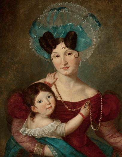 co to był biedermeier, Jan Damel portret Marii Rawiczowej, blog historia, blog historyczny